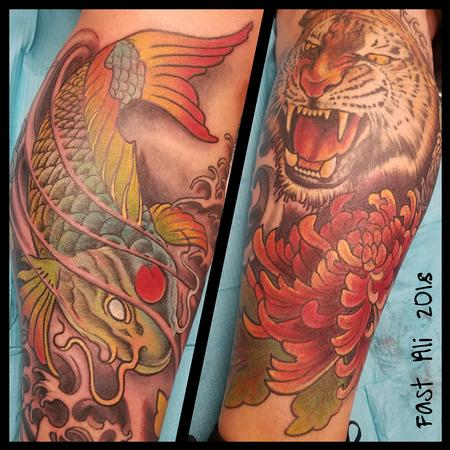 Tattoos - Ono's Tiger & Koi - 132970