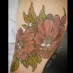 Patty's flowers in muted tones Tattoo Design Thumbnail