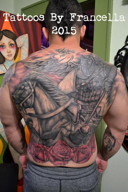 Francella Salgado - Giant Cover-Up Backpiece