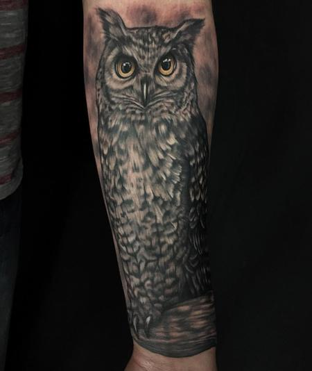 Tattoos - Owl Tattoo - 128929