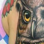 Colorful Owl Tattoo Design Thumbnail