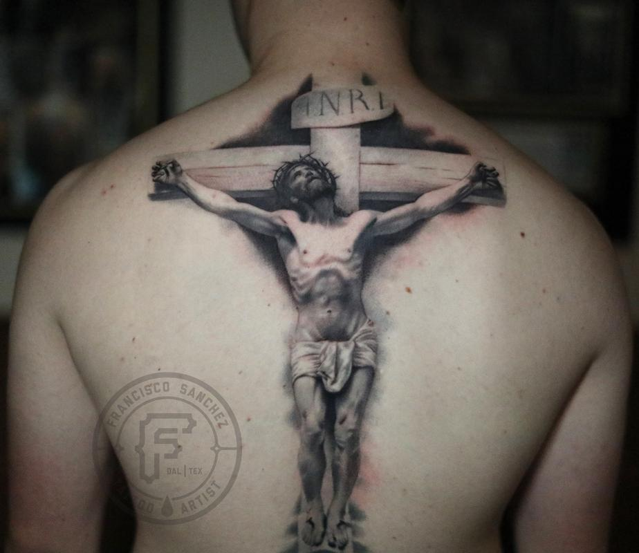 Tattoos - realistic Jesus tattoo - 131268