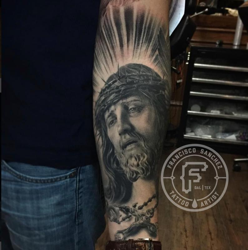 Tattoos - Realistic Jesus Portrait Tattoo - 131096