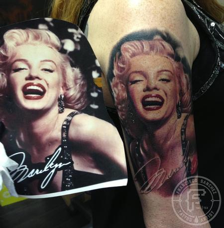 Tattoos - Marilyn Monroe portrait tattoo - 91196