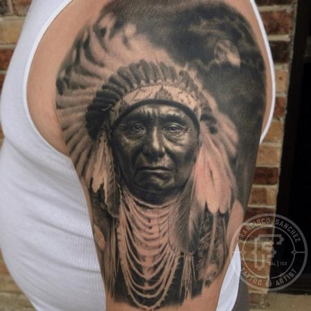 Native American portrait tattoo Tattoo Design Thumbnail