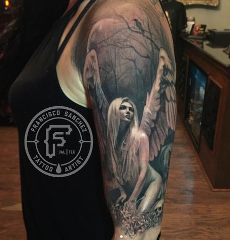 Tattoos - Realistic Angel Tattoo - 131095