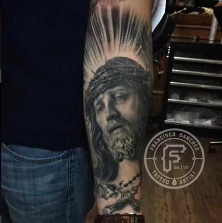Francisco Sanchez - Realistic Jesus Portrait Tattoo