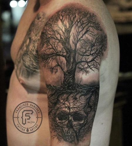 Realistic Tree Tattoo  Design Thumbnail