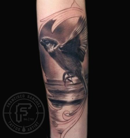 Tattoos - sparrow bird tattoo - 82463