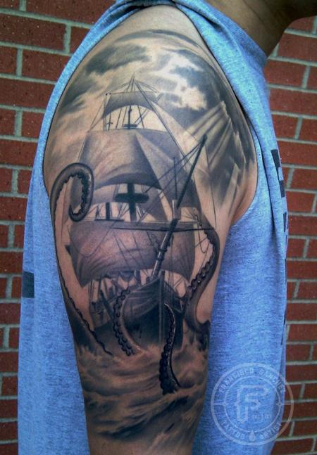 Tattoos - ship tattoo - 89538