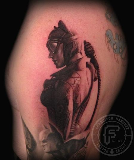 Francisco Sanchez - catwoman tattoo