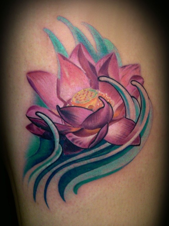 Francisco Sanchez - lotus cover up with water