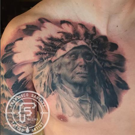 Tattoos - Realistic Native American Tattoo - 130805