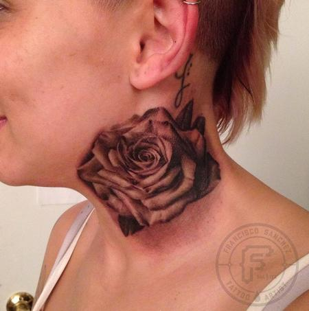 Francisco Sanchez - realistic rose tattoo