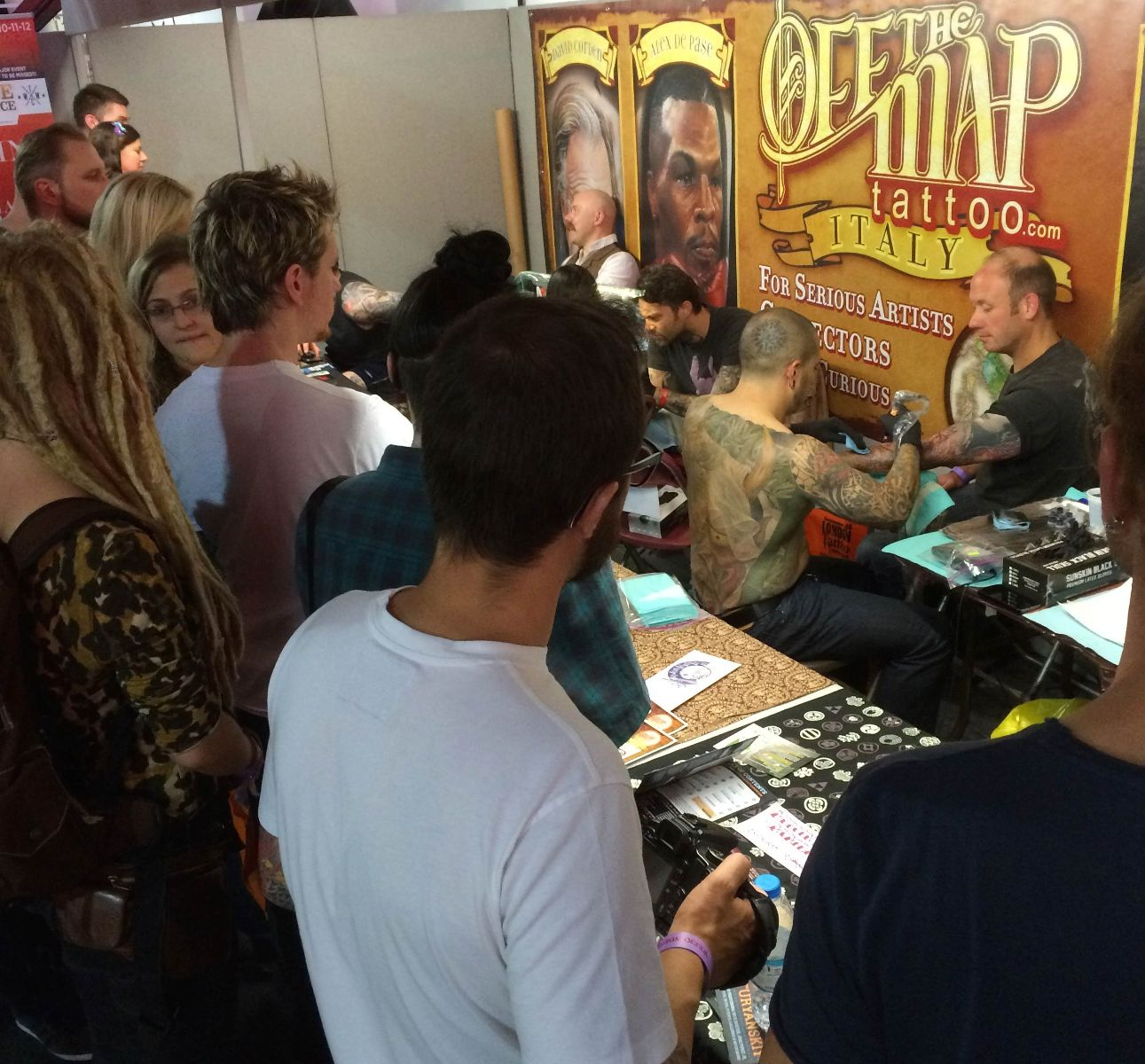 Off the Map Tattoo Booth at the 2014 London Tattoo Convention