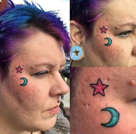Tattoos - Moon and Stars - 115329