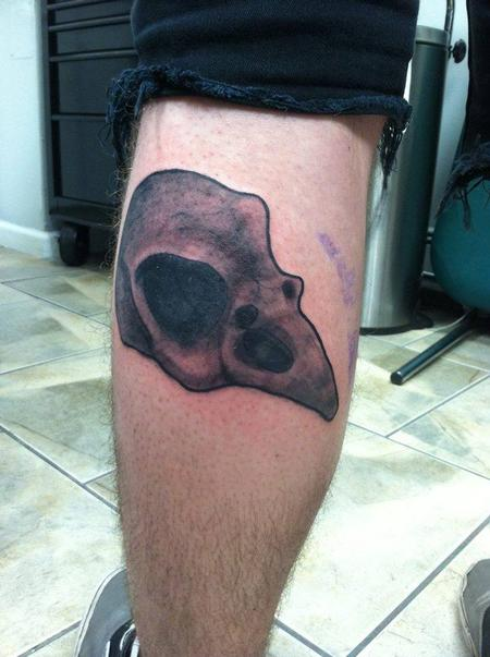 Crow Skull  Tattoo Thumbnail