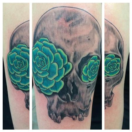 Tattoos - Succulent Skull  - 115277