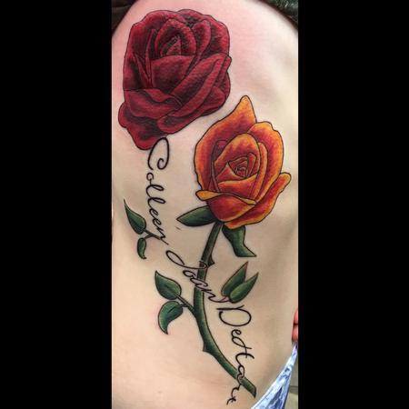Intwining roses Tattoo Thumbnail