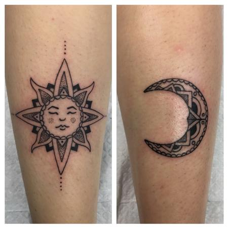 Tattoos - Sun and moon - 115245