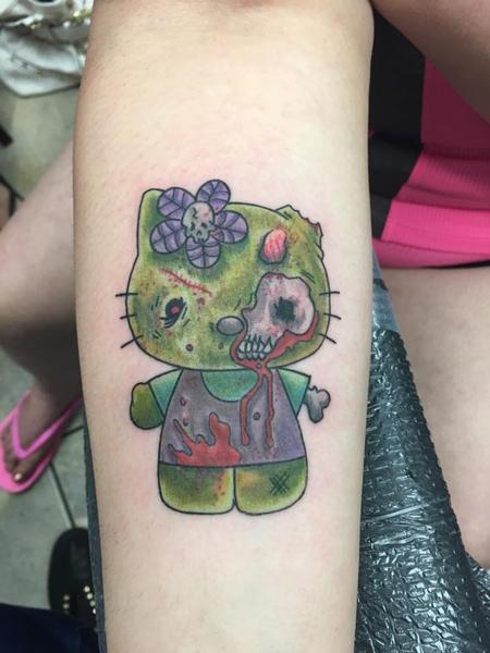 Tattoos - Hello Kitty Zombie  - 122073