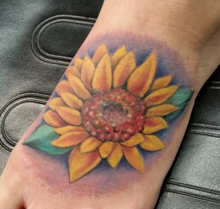 Sunflower (fixup) Tattoo Thumbnail