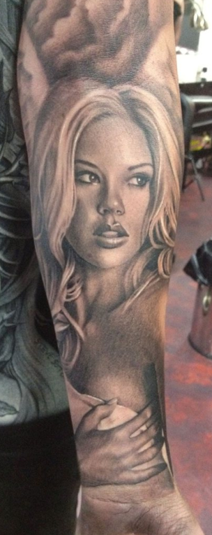 Black and Grey Portrait Tattoo Tattoo Design