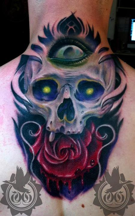 Tattoos - color skull ose - 67281