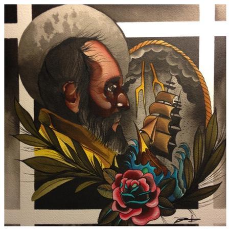 Neo Traditional Art Gary dunn - old mariner