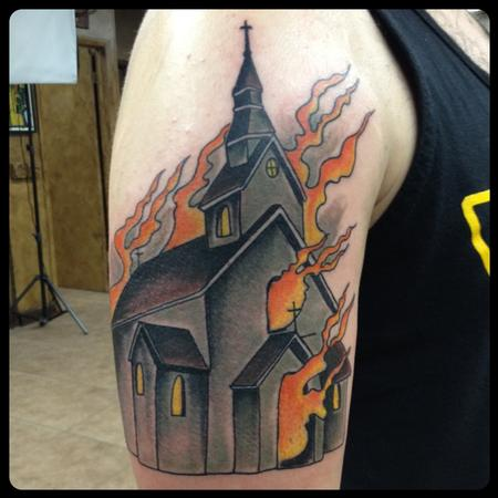 Tatto Studios on Art Junkies Tattoo Studio   Tattoos   Gary Dunn   Church Tattoo