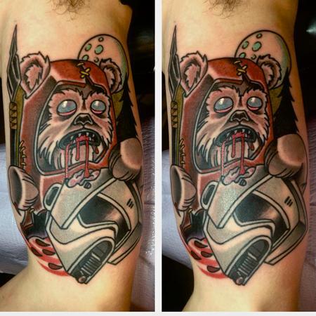 Tattoos - zombie ewok - 95117