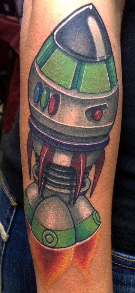 Rocket based off of Buzz Lightyear's suit Tattoo Design Thumbnail