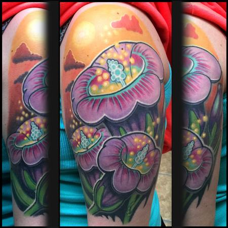 Matthew Davidson - Fully healed flowers and sunny  sky