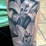 Tattoos - In Progress Healed Lillies - 113898