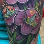 Tattoos - Fully healed flowers and sunny  sky - 101697