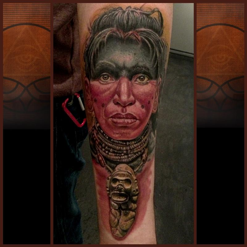 Taino Warrior by Timothy B Boor: TattooNOW