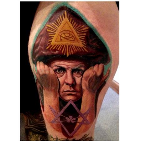 Aleister Crowley Tattoo Design Thumbnail
