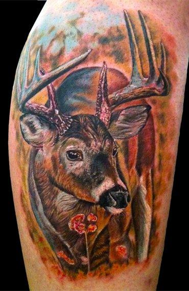 Deer Tattoo Design Thumbnail