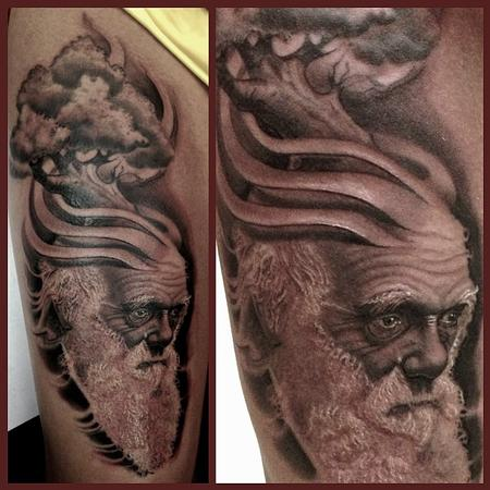Charles Darwin  Tattoo Design Thumbnail