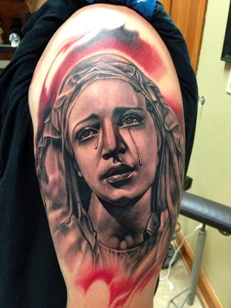 Tattoos - Virgin Mary Portrait  - 94329
