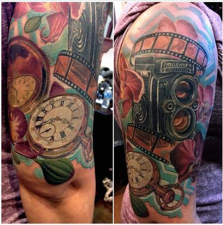 Rolleiflex Camera Tattoo Design Thumbnail