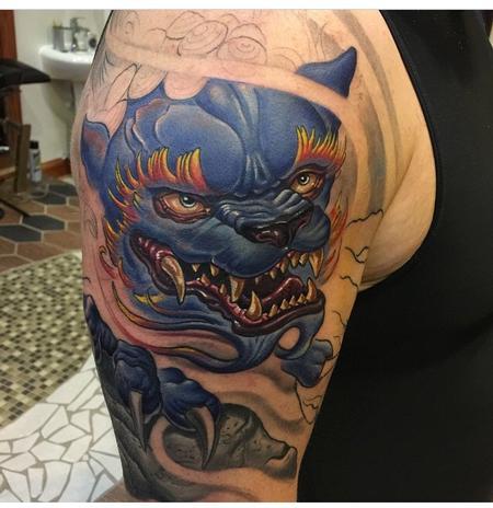 Tattoos - Foo Dog In Progress - 97815