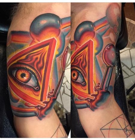 Tattoos - Science Sleeve in Progress - 98326