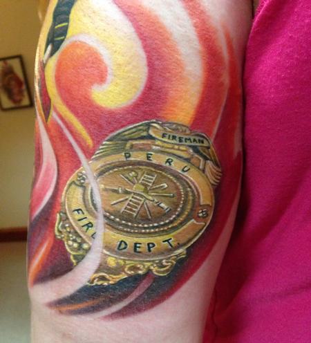 Tattoos - Fireman's Badge - 99768