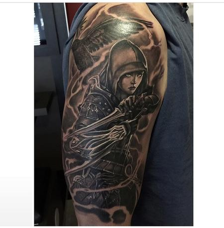 Tattoos - Knight Girl (In Progress) - 99883