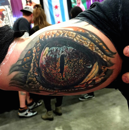 Tattoos - Healed Alligator Eye - 100532