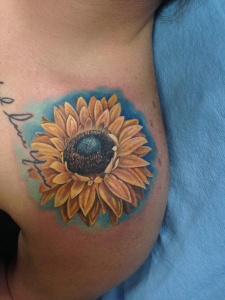 Sunflower  Tattoo Design