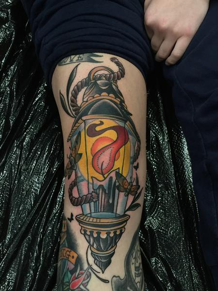 Tattoos - Knee Lantern - 111580
