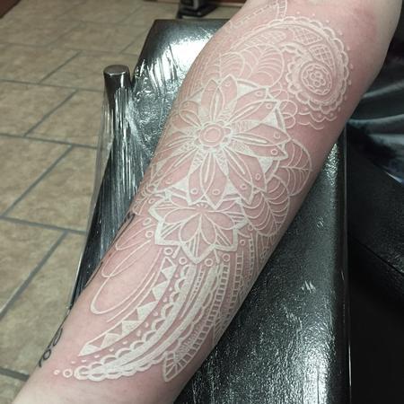 White Ink Paisley Tattoo Design
