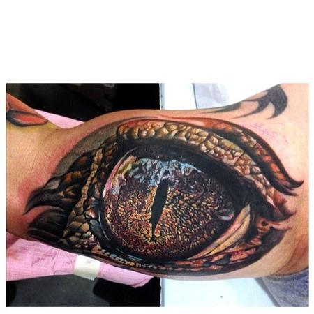Alligator Eye  Tattoo Design Thumbnail
